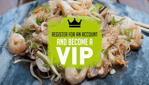 Chop and Wok - register for an account